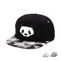 Wholesale Wholesale Flat Bill Hats - Men Solid Flat Bill Hip Hop Snapback Baseball Cap Lovely Panda Women men penguin snapback hat