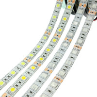 Wholesale Led Christmas Ribbon - LED Strip Light 5050 SMD DC 12V 60LEDs m Flexible Single Color LED Ribbon For Halloween Christmas 100M 20 rolls By DHL