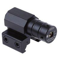 escopo de pistola tático venda por atacado-Trilho Red Dot Laser Tactical Alcance Red Dot Mira Laser Scope Tático refile escopos 50-100 Metros Para Rifle Pistol Weaver Mount + B