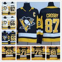 Wholesale Brand Hockey Jerseys - Penguins 2017 New Brand Jerseys #87 Sidney Crosby 3 Maatta 62 Hagelin 66 Lemieux 71 Evgeni Malkin 72 Hornqvist 81 Kessel Black White