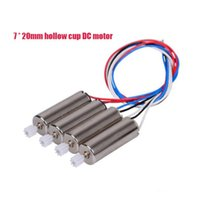 Wholesale Hollow Cup Motor - 4psc 7 * 20mm Motor hollow cup Applicable model aircraft X5C X5S 3.7V