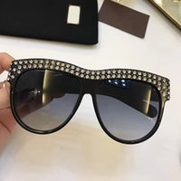 Wholesale Men Built - G0147 Luxury Brand Sunglasses 0147 Large Frame Elegant Special Designer with Diamond Frame Built-In Circular Lens Top Quality Come With Case