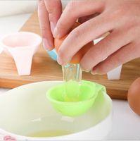белый пластиковый держатель для яиц оптовых-кухня гаджеты яйцо инструменты DIY пластиковые белый желток яйцо сепаратор делитель кухня кулинария инструмент аксессуары держатель фильтра повар