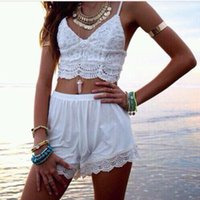 Wholesale Lace Corset Tank Tops - Hot! Summer Style Fashion Lady Sexy Womens Strappy Crop Top Tank Bustier Bra Corset Vest wholesale