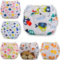 Wholesale Cute Girls Diapers - Adjustable Reusable Washable Baby Cloth Diaper Newborn Boys Girls Cute Animal Dot Printing Mesh Breathable Nappy
