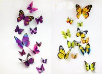Wholesale Paris Wall Decals - Charlotte in Paris Cinderella butterfly decoration wall stickers set 12pc butterflies butterfly pvc removable wall stickers butterflys