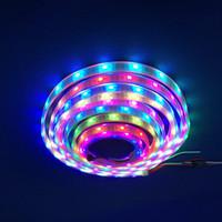 führte intelligente pixel großhandel-5m SK6812 Pixels flexibles LED-Streifen-Licht weißes PWB wasserdichtes intelligentes IC 5050 RGB SMD Digital farbenreiches DC5V