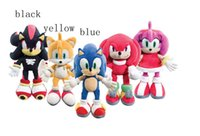 "Wholesale Sonic Hedgehog Wholesale - Wholesale-10"" SONIC THE HEDGEHOG PLUSH SOFT TOY KNUCKLES TAILS SHADOW AMY TEDDY BEAR BNWT"