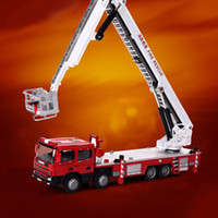 Wholesale Toys Model Fire Car - 1:50 Scale Metal Diecast Aerial Fire Truck Construction Vehicle Cars Model Toys