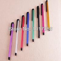 toque los precios de los teléfonos al por mayor-Venta al por mayor- Mejor precio Mini Stylus Touch Pen con material plástico capacitivo táctil para tableta PC de teléfono móvil 3000pcs / lot