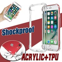 Wholesale Plastic Cushion Covers - Air Cushion Dropproof Camera Protection Transparent Clear Soft TPU Frame PC Back Hard Cover Case For iPhone X 8 7 6S Plus Samsung S8 S7 Edge