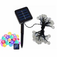 Alta qualidade Solar Powered Led Outdoor String Lights 6M 30LEDs Crystal Ball Globe Fairy Strip Lights para Outside Garden Party Christmas