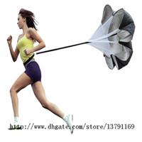 "Wholesale Power Chutes - Speed Resistance Sports Training Parachute 56"" Running Power Chute Soccer Football Training Equipment Running Umbrella Black"