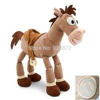 Wholesale Cute Stuffed Horse Toys - Wholesale- Toy Story 40cm 16'' Bullseye Horse Plush Toys for Children Cute Stuffed Animals Kids Gifts
