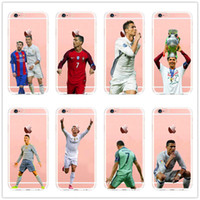 Wholesale Dhl Clear Iphone Case - 2017 Real Madrid Cristiano Ronaldo & Lionel Messi Phone Soft silicone Case For iphone SE 5 5s 6s 7 7plus free dhl