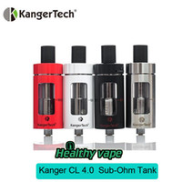 Wholesale Vision Coils - Sale! Original Red Kanger CLTANK 2.0ml Atomizer Top Filling Airflow Contron Tank with Child Lock and Kangertech CLOCC Coils Vision Mk Tank