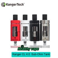 Wholesale Sale Original Red Kanger CLTANK ml ml Atomizer Top Filling Airflow Contron Tank with Child Lock and Kangertech CLOCC Coils