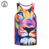 Mr.1991INC Marca uomini / donne 3d gilet divertente stampa animale estate fresco mens canotte casual fitness tees camicie