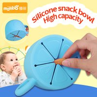 Wholesale Utensils For Baby - Soft Silicone Food Cup 450ml Utensils for Children Snack Spilled Cup Leak Proof Silicone Baby Snack Box Cup Christmas Gift 2110124