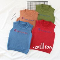Wholesale Red Vest For Kids - Children Cotton Vests Boys Girls Knitted Vests For Spring Autumn Baby Kids Casual Waistcoats Toddler Warm Top Coat Clothes