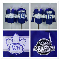 Wholesale Leafs Toronto - Men Toronto Maple Leafs 34 Auston Matthews 16 Mitch Marner Blue 100th 2017 Centennial Classic Premier Jersey stitched S-3XL