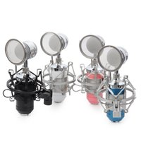 Wholesale Microphone Holder For Stand - BM-8000 Professional Sound Studio Recording Condenser Microphone with 3.5mm Plug Stand Holder Pop Filter for PC Computer
