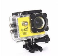 Wholesale Sport Camera Hd Underwater - SJ7000 2.0inch LCD WIFI Action Sport Camera Full HD 1080P 170 Degree Lens Underwater 30M Mini Extreme Diving Helmet Cam Recorder
