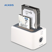 Wholesale Dual Sata Hdd Docking Station - Wholesale- 10072TW Acasis BA-12US 3.5-Inch SATA USB3.0 Dual Hard Drive HDD Docking Station Hard Disk Offline Cloning Duplicator Box