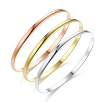 Wholesale Box Roses Wedding - New three-color three-ring bracelet silver rose gold gold single ring light titanium steel bracelet foot ring
