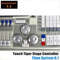 Flight Case Pack Hochwertige Original Tiger Touch DMX Controller Titan 6.1 System LCD Touchscreen, Tiger Touchable 15.4 Bildschirm Led Bühne