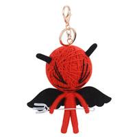 Wholesale Cartoon Handmade Keychain - Fashion Handmade Devil Demon Metal Keychain Keyring Car Keychains Purse Charms Handbag Pendant