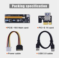 pci e ide toptan satış-PCIE PCI-E PCI E Express Yükseltici Kart 1x için 16x USB 3.0 Veri Kablosu SATA 4Pin IDE Molex Güç Kaynağı Bitcoin BTC Maden Makinesi