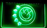 ingrosso segni di bar liberi-LS008-g Blink 182 Punk Music Pub Bar Luce al neon insegne Decor Dropshipping di spedizione all'ingrosso 6 colori tra cui scegliere