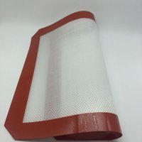 Wholesale Fiberglass Rolls - Non-stick silicone baking mats food grade silicone fiberglass rolling sheet kitchen bakeware pastry tools Dab Oil Bake Dry Herb Pads