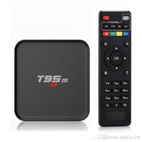 Wholesale Wholesale Led Uk - S905X T95 TV Box KD16.1 fully loaded LED display Quad Core Android 6.0 TV Boxes OTA T95M Streaming Boxes