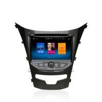 dvd del coche para ssangyong al por mayor-Para Ssangyong Korando Actyon 2014+ Android 6.0 Octa Core Autoradio Radio de coche Estéreo Navegación GPS Sistema de medios multimedia Sat Nav NO DVD