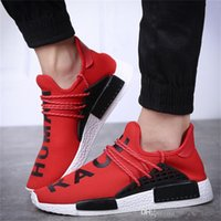 Wholesale Womens Red Glitter Flats - 2017 Original NMD HUMAN RACE Pharrell Williams Hu Shoes Mens womens Running shoes NMD Runner Boost Yellow white red black grey EUR 36-45
