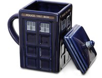 Wholesale Funny Doctors - Doctor Who Tardis Creative Police Box Mug Funny Ceramic Coffee Tea Cup 500 ML Ceramic water cup For kids student Gift KKA1869
