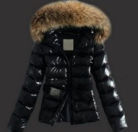 Wholesale Korean Fur Hooded Jacket - HOT SALE 2017 Winter raccoon fur collar Korean fashion Slim thin cottcotton short Down jacket women's Coats Jackets Parkas