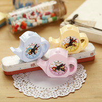Wholesale Old Office Desk - Wholesale-Creative Stationery Kettle Cute Fresh Pencil Sharpener for Kids Gift Kawaii School & Office Supplies Desk Decor Stationery 1pcs