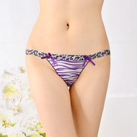 Wholesale Cotton Low Waist Panties - Sexy Women Low Waist Thongs Underwear Briefs Lingerie Knickers Seamless panties free shipping