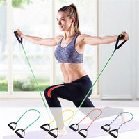 Wholesale Rally Accessories - Fitness Equipments Resistance Bands Stretch Elastic Tube Latex Cable Workout Yoga Rally Muscle Practical Training Exercise Rope