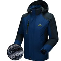 Wholesale Thick Thermal For Men - 5XL Winter Softshell Jacket Men Outdoor Sport Thick Mens Jackets Male Waterproof Windproof Thermal Jackets For Camping Ski Coat