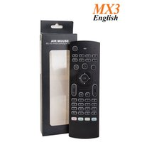 Wholesale Wireless Mouse For Htpc - Original MX3 2.4G Remote Backlit Mini Wireless Keyboard Air Mouse for Android TV Box IPTV HTPC Mini PC
