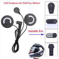 Wholesale earphones for motorcycle - Freedconn Motorcycle Intercom Parts Soft Earphone Earpiece for FDC-01VB T-COMVB TCOM-SC COLO TCOM-02 Full Face Helmet Headset Accessories