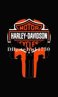 Wholesale new harley davidson punisher Indoor Outdoor Football College Flag X Custom Flag skull flag