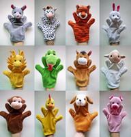 Wholesale Plush For Sale - Wholesale-12Pcs Lot Funny Hand Puppets For Kids Plush Hand Puppets For Sale Chinese Zodiac Style Cartoon Hand Puppets Large Size