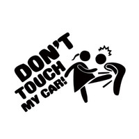 Wholesale funny car graphics - Car Styling For Don't Touch My Car Lady Edition Funny Cartoon Personality Vinyl Decal Cool Graphics JDM