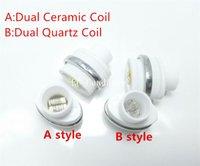 ingrosso asta micro penna-Micro G Elipe Atomizzatore bobine Dual Quartz Ceramic Rod Testa bobina per Elips Wax pen Micro Gpen Double Coil Rod E sigaretta