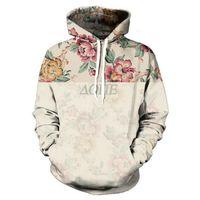 Wholesale Vintage Hooded Sweatshirts - Wholesale- New Fashion Men's 3D Print Hooded Sweatshirts Harajuku Vintage Floral Leisure Hoodie Flowers Graphic Pullover Unisex Sweats Tops
